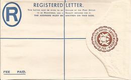 Ghana 1957 4d Brown Eagle Unused Mint Registered Envelope - Ghana (1957-...)
