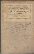 49 - CHOLET - Grande Et Rare Carte Géologique Détaillée Et Carte Topographique De L'Etat Majeur 1896 .  ( N° 118 ) - Topographical Maps