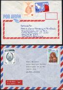 Peru 1983-84 YT733, 752, 765, 774. Arequipa A La Paz. 2 Cartas. Inflacion. 2 Sc. See Desc. - Peru