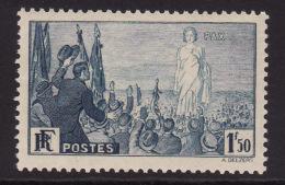 France #321 F-VF Mint NH ** Peace (1936) - France