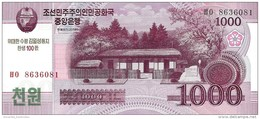 NORTH KOREA 1000 원 (WON) 2008 (2014) P-NL UNC COMMEMORATIVE [KP354a] - Korea, North