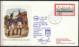Germany Koln / Bonn 1973 / Airplanes / Lufthansa Flight / Boeing 707 / Greetings From The Plain Pilot - Avions