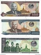 LAOS 1000 2000 5000 KIP 2003 P-32 33 34 UNC SET [LA509-511] - Laos