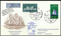 Germany Kiel 1972 / Airplanes / Lufthansa Post Flight LH 6705/6965 For Olympic Games Munich - Sommer 1972: München