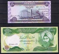 Iraq , Irak 2 Banknoten 2003 - 2006 - Iraq