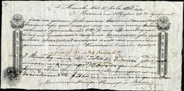 Russia Russland Russie 1866 Bill Of Exchange Wechsel 2 Rub. (301-900 R.) Revenue Stamped Paper Fiscal Tax Stempelpapier - Bills Of Exchange