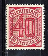 ALLEMAGNE S22** 40p Rouge Carminé - Service