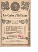 Partition- Les Contes D'Hoffmann  -  -  Paroles :  Musique:  J. Offenbach - Non Classés