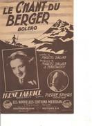 Partition- Le Chant Du Berger - Irene Fabrice -  Paroles : M. DALJAN  Musique:  M. DALJAN - Non Classés