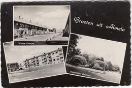 Almelo - Multiview: Willem Kloosstraat, Albert Verweystraat, Reigershöfte Plantsoen  - 1962 - (Overijssel/Nederland) - Almelo