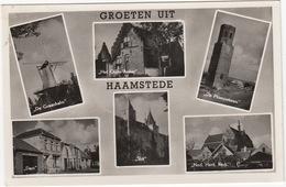 Haamstede: Molen 'De Graanhalm', Het Oude Anker,De Plompetoren, Slot,Ned. Herv. Kerk  - Multiview - (Zeeland/ Nederland) - Niederlande