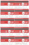 Australia Sydney Mytrain Zone Train Ticket Collection Of 10 Tickets - Chemins De Fer