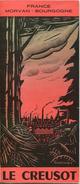 Frankreich - Le Creusot 50er Jahre - Faltblatt Mit 9 Abbildungen - Titelbild Signiert Goutorbe - Dépliants Touristiques