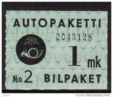1949 Finland 1 Mk Bus Parcel Stamp **.