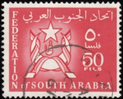 SOUTH ARABIA - Scott #10 Arms Of Federation Of South Arabia / Used Stamp - Great Britain (former Colonies & Protectorates)