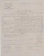 Fumay - L'Ardoisière Du Moulin Ste Anne - Document Différents Modèles Ardoises Avec Timbre 1869 - France