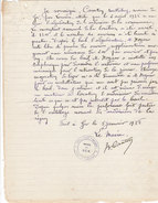 Adjudication Ardoisière De Ger 1937-1938, Exploitation De Boun Vallée De Batsurgère (3 Documents) - Belgium