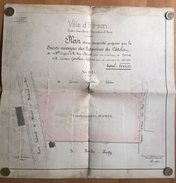 Hirson - Plan Propriété Acquise Par SA Ardoisères Du Câtelet 1899 - Belgio