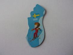 Magnet Savane Brossard Suède Lion Ski - Tourisme