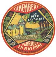 """Ancienne étiquette Fromage Camembert  Fabriqué En Mayenne """" Le Petit Lavallois"""" A Besnier  Fromagerie De Laval """"chateau"""" - Cheese"""