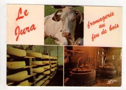 CP 10*15-RIS945-JURA FROMAGERIE AU FEU DE BOIS MULTIVUES 1984 - France