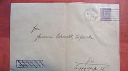 """DR Bis 32: Orts-Brief Mit 15 Pf Dienstmarke EF 10.4.20 Aus Gera, Stpl: """"Frei Durch Ablösung Nr.11"""" Durchgstrich. Knr:B25 - Germany"""