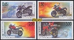 Bulgaria 2016, Adventure Motorcycles - 4 V. MNH (**) - Nuevos