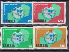ZAMBIE    1980         N ° 205 / 208   +  BF  7       COTE   6 , 75   EUROS - Zambie (1965-...)