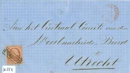 BRIEFOMSLAG * NVPH 8 * 10 Ct WILLEM III * Op Brief 1867 Van AMSTERDAM Naar UTRECHT FRANCO STEMPEL (10.554) - 1852-1890 (Wilhelm III.)