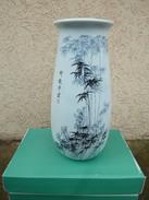 CHINA / DECORATIVE ZHONGGUO JINGDEZHEN ZHI CHINESE VASE WITH BAMBOOS / CHINE / VASE CHINOIS AVEC BAMBOUS - Asian Art