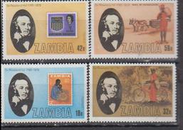 ZAMBIE    1980         N ° 201 / 204   +  BF  6       COTE   9 , 00   EUROS - Zambie (1965-...)