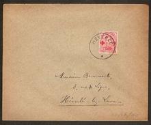 Nr. 153 Op Brief Met Rondstempel HEVERLE Verstuurd Naar HEVERLEE ; Staat Zie Scan ! - 1918 Croix-Rouge