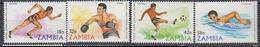 ZAMBIE    1980    Jeux Olympiques Moscou    N ° 213 / 216          COTE   3 , 50   EUROS         ( D 37 ) - Zambie (1965-...)