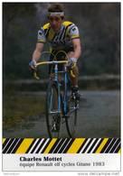 CARTE CYCLISTE   CHARLES  MOTTET       RENAULT ELF 1983 - Radsport