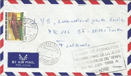 Congo 1986 Pointe Noire Marxism-leninism Girls Paramilitary Training Special Handstamp Cover - Congo - Brazzaville