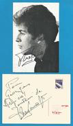 (A350) Signature / Dédicace / Autographe Original De Theo Sarapo - Chanteur, Acteur - Second Mari De Edith Piaf - - Autographes