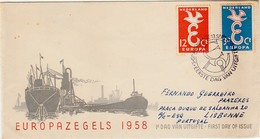 Cover FDC :: Netherlands :: Europazegels 1958 - FDC