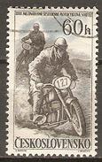 TCHECOSLOVAQUIE     -    1957 .    Y&T N° 919 Oblitéré.  MOTOCYCLISME - Used Stamps