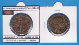 ALTO IMPERIO ROMANO  ALEJANDRO SEVERO SESTERCIO BRONCE  Réplica   SC/UNC    T-DL-11.999 - 4. La Dinastía De Los Severos (193 / 235)