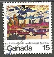 "Sc. #617 ""Mist Fantasy"" By J.E.H. MacDonald Used 1973 K289 - 1952-.... Règne D'Elizabeth II"