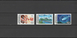 Micronesia 1986 Space Halley´s Comet, Ships, International Year Of Peace Set Of 3 MNH