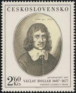"Czechoslovakia / Stamps (1977) 2286: Wenceslaus Hollar (1607-1677) ""Self-portrait"" (1647); National Gallery Prague"