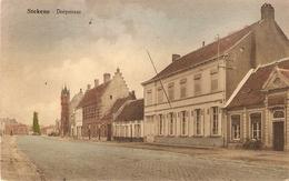 Stekene : Dorpstraat  ( Oude Kleurkaart ) - Stekene