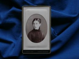 Photo CDV D. Camus à Nogent Sur Seine - Portrait Jeune Femme , Vers 1885 L290B - Foto
