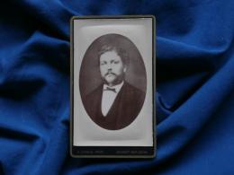 Photo CDV D. Camus à Nogent Sur Seine - Portrait Homme Favoris Et Moustache, Vers 1880 L290B - Foto