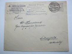 OBERSCHLESIEN , Königshütte  , Klarer Stempel Auf Brief  1922 - Deutschland