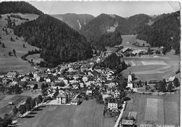 BUTTES → Flugaufnahme / Vue Aérienne Anno 1956 - NE Neuenburg