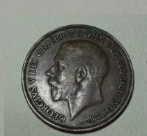1914 - Grande-Bretagne - Great Britain - ONE PENNY, GEORGE V, KM 810 - 1902-1971 : Monete Post-Vittoriane