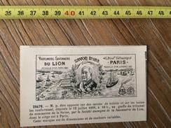 MARQUE DEPOSEE 1888 PARFUMERIE SOCIETE ANONYME SAVONNERIE DU LION  NEGOCIANT A PARIS PANAMA - Collections