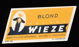 WIEZE - BLOND -  10 X 4  CM - Bier
